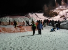 Snow tubing in the evening